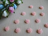 Серединка акриловая - Роза розово - персиковая малышка р-р - 9 мм цена 7.5 грн - 10 шт, фото 2