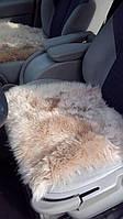 Накидка на стул из овчины беж
