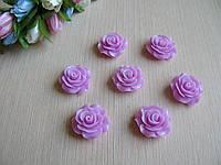Серединка акриловая - Сиреневая роза лаковая  р-р - 2 см цена 20 грн - 10 шт