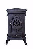 Камин печь буржуйка чугунная Black 9 кВт с двойными стенками Топка