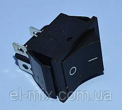 Выключатель без фиксации KCD2-211 (RS-201) черный 2-группы OFF-(ON)  Daier