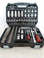 Набор головок и ключей с металлическими защелками Boxer poland 108 эд.