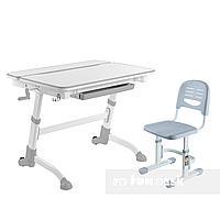 Комплект растущая парта Volare Grey + детское ортопедическое кресло SST3 Grey FunDesk