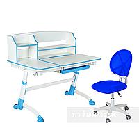 Комплект подростковая парта Amare II Blue + подростковое кресло для дома LST1 Blue FunDesk