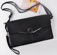 Женская сумка черная через плечо конверт British Crown Черный, фото 1