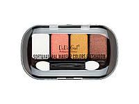 Тени DoDo Soft & Natural Makeup Colors Eyeshadow 4 цв овал (Палитрой 4 шт. № 1,2,3,4)   3007D
