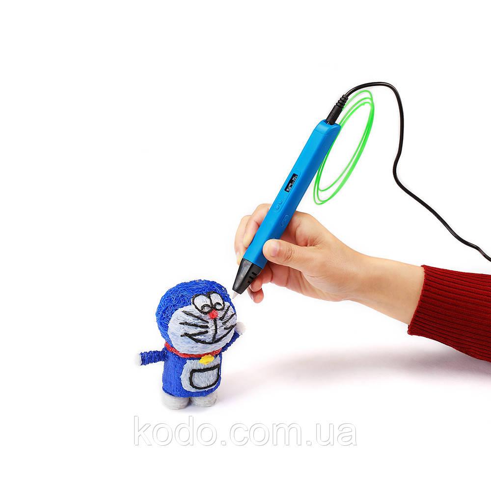 + 15 м PLA  пластика в подарок Синий