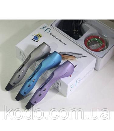 3D ручка YuandaСиний металик, фото 2