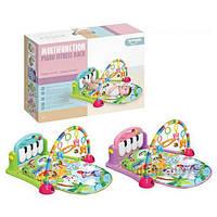 Коврик  пианино для младенца HE0603-HE0604 музыка, свет, игрушки 71х47 см