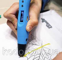 3D ручка Smartpen-2 6-го поколения модель RP400A c OLED дисплеем Синяя, фото 2