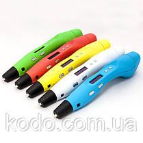 3D ручка Smartpen-2 6-го поколения модель RP400A c OLED дисплеем Синий металик, фото 2
