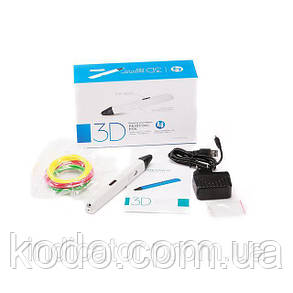 3D-ручка 4-го поколения Portable SMARTPEN RP800A(ABS/PLA) в подарок Желтая, фото 2