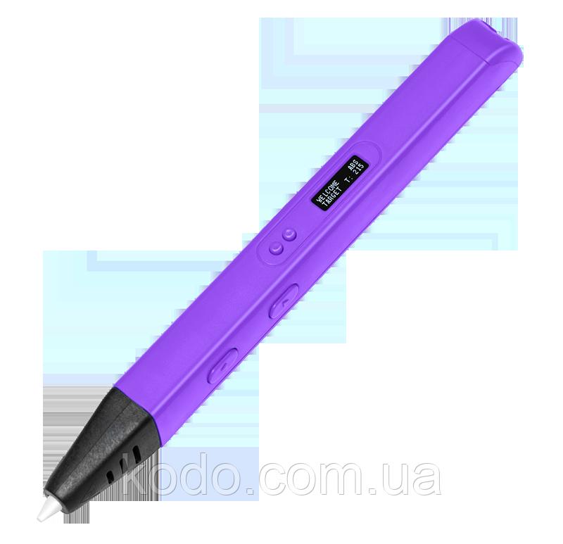 3D-ручка 4-го поколения Portable SMARTPEN RP800A(ABS/PLA) в подарок Фиолетовая
