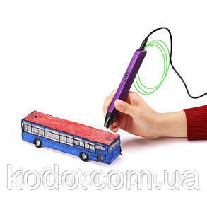 3D-ручка 4-го поколения Portable SMARTPEN RP800A(ABS/PLA) в подарок Фиолетовая, фото 2