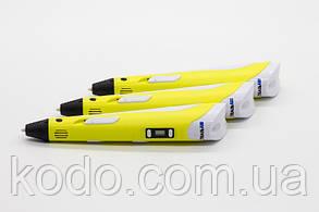 Оригинальная 3D ручка 2-го поколения MyRiwell 2 RP100B(ABS/PLA) в подарок Желтая, фото 2