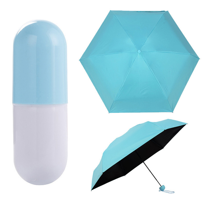 Мини-зонт в футляре «Капсула» голубой, фото 1