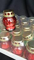 Маленькая лампадка из стекла и металла, свеча в комплекте, выс.9 см., 9/8 (цена за 1 шт + 1 гр.)