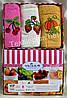 Полотенца махровые кухонные Yagmur  Fruits 3 шт.  30*50 100% хлопок Турция
