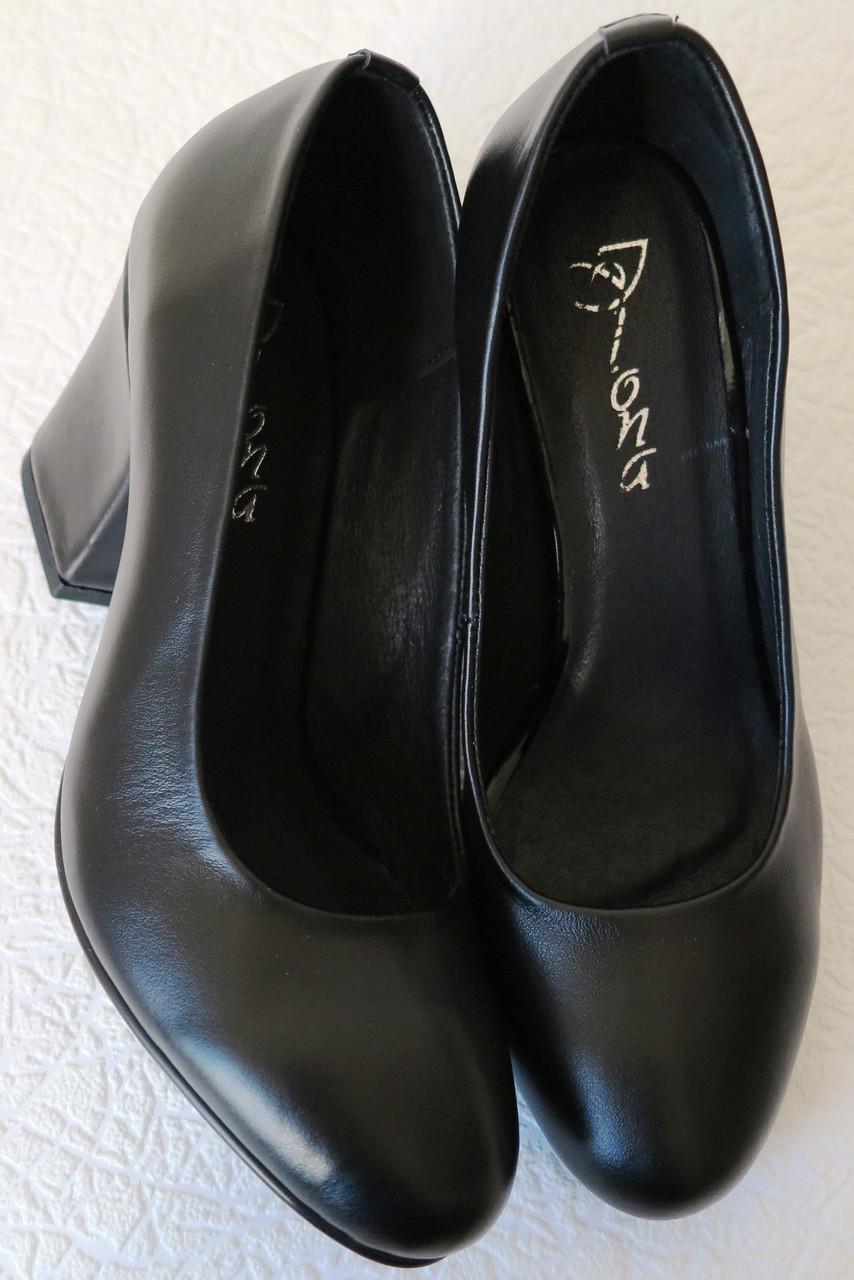 ... Nona! женские качественные классические туфли натуральная кожа черные  взуття на каблуке 7 447245e81f578
