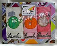Полотенца махровые кухонные - Cestepe - Bamboo - 3 шт. - 40*60 - 100% бамбук - Турция - (kod1541), фото 1