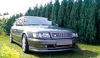 Накладка на передний бампер Audi 100 C4 Юбка Губа Фартух Ауди 100 Ц4