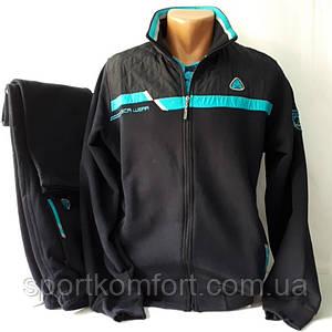 Тёплый мужской спортивный костюм Соккер, тёмно-синий.