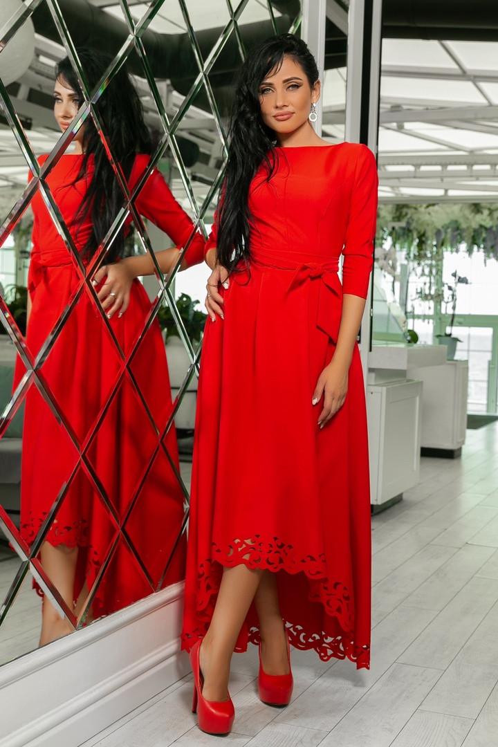 Шикарное платье в пол с перфорацией - Интернет-магазин