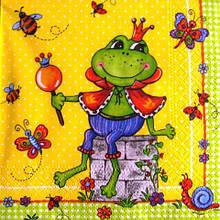 Рідкісна декупажна серветка Царівна-жаба 3459