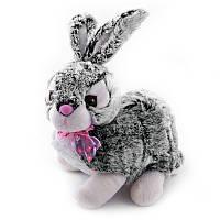 Мягкая игрушка озвученная Кролик сизый №051-1