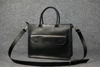 Женская сумка мессенджер Италия Черный