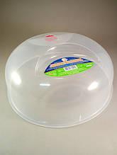Крышка для микроволновой печи пластиковая прозрачная 30 см Алеана