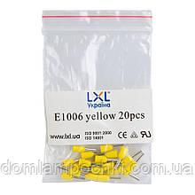 Наконечник штыревой втулочный изолированный 1,0 мм2 (20 шт/уп)  LXL