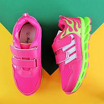 Детские малиновые кроссовки для девочки с рисунком пламя обувь Том.м р.28, фото 2
