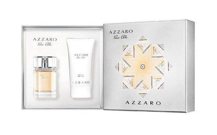 Набор Azzaro Pour Elle (парфюмированная вода 75мл + лосьон для тела 150мл)