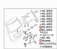 Эмблема надпись на багажник Mercedes-Benz ML-Class W164 Новая Оригинальная