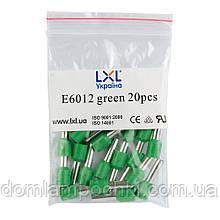 Наконечник штирьовий втулковий ізольований 6,0 мм2 (100 шт/уп) LXL