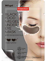 Гидрогелевые патчи для кожи вокруг глаз Purederm Black Food MG:GEL Under Eye mask