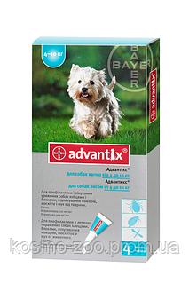 Адвантикс (Advantix) капли на холку от блох и клещей для собак 4-10 кг, 1пип.*1 мл, Bayer (Байер)
