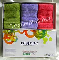 Полотенца махровые кухонные - Cestepe - Premium - 3 шт. - 30*50 - 100% бамбук - Турция - (kod1549), фото 1