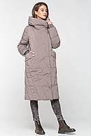 Длинная теплая зимняя женская куртка BTF 1886 - цвета визон