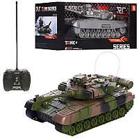 Радиоуправляемый танк, на батарейках, со звуковым и световыми эффектами, в коробке, 2 вида.