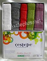 Полотенца махровые кухонные - Cestepe - Premium - 5 шт. - 30*50 - 100% бамбук - Турция - (kod1552), фото 1