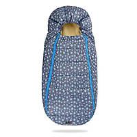 Зимний конверт - кокон на овчине Baby XS в коляску (Голубые звезды)