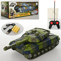 Танк Super Armeo на радиоуправлении, на аккумуляторах, со звуковыми и световыми эффектами, USBзарядное, 2цвета