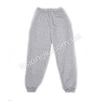 Спортивные тонкие штаны с начесом серые на рост 116-122см
