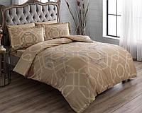 Комплект постельного белья ТАС Benard gold сатин де люкс 220-200 см, фото 1