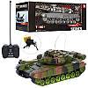 Детская игрушка танк, на радиоуправлении, на аккумуляторах, 30 см, звук, свет, 2 вида, в коробке