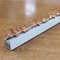 Шина соединение  вилочного типа 3Р/63А (1.2х7)