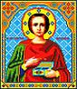 """Схема для вышивки крестом на канве Аида №16 """"Св. Пантелеймон Целитель"""""""