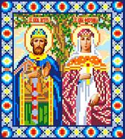 """Схема для вышивки крестом на канве Аида №16 """"Святые Петр и Феврония"""""""